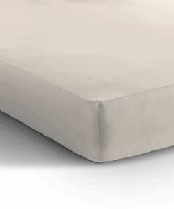 Jersey hoeslaken matras - creme