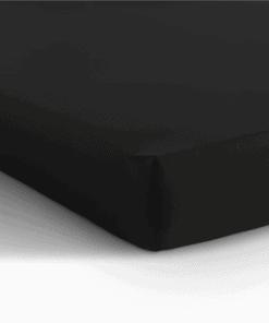 Jersey hoeslaken matras - zwart
