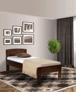 Senioren bed comfort donkerbruin