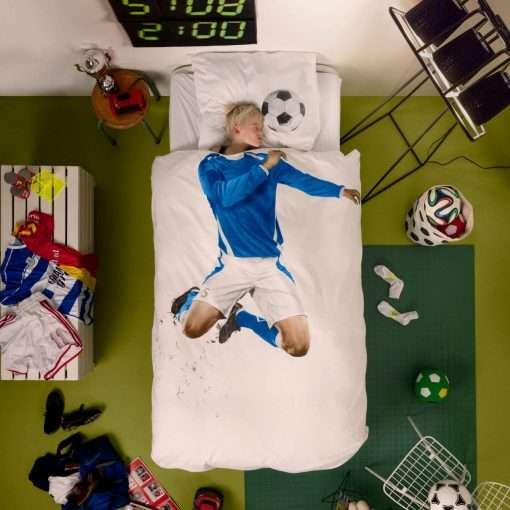 Soccer Champ Blue dekbedovertrek