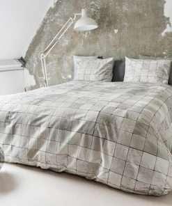 Tiles Pearl White dekbedovertrek